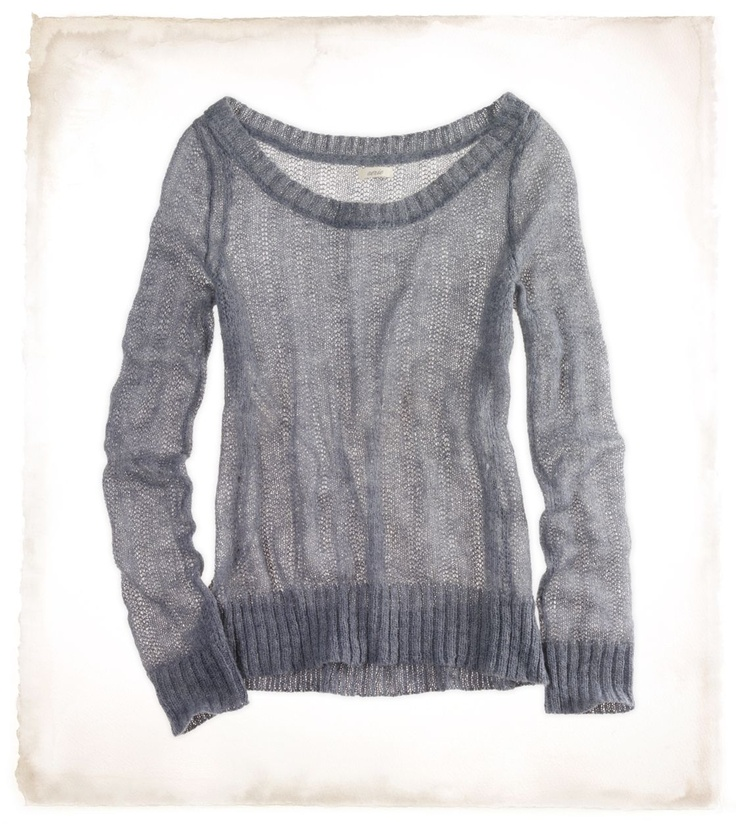 Thin mohair sweater  Pair this with the undine chemise?  or better yet the billowy grey silk I bought last year on sale!