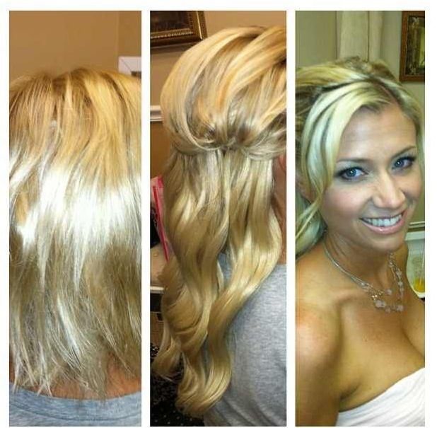 79 best Wedding Day Hair Extensions Before & After Brides ...