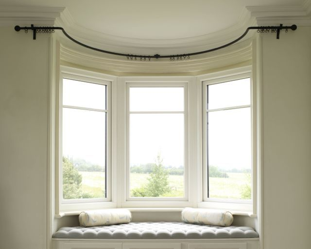 Curved curtain rods for bow windows curtain menzilperde net for Curved bay window