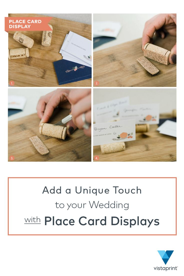 54 best wedding campaign images on pinterest invitations wedding for a creative twist on wedding table name cards reuse wine corks as displays to stopboris Gallery