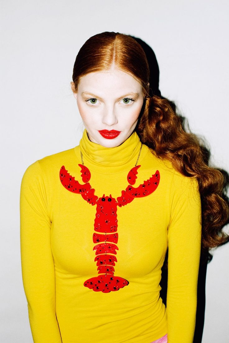 Tatty Devine Lobster Necklace! - www.tattydevine.com/lobster-giant-necklace-red