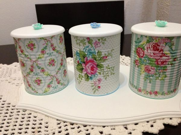 trio de latas green gate decoupage ii pinterest. Black Bedroom Furniture Sets. Home Design Ideas