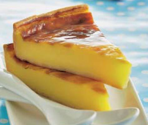 Repostería: tarta flan de vainilla #recipes #cuisine