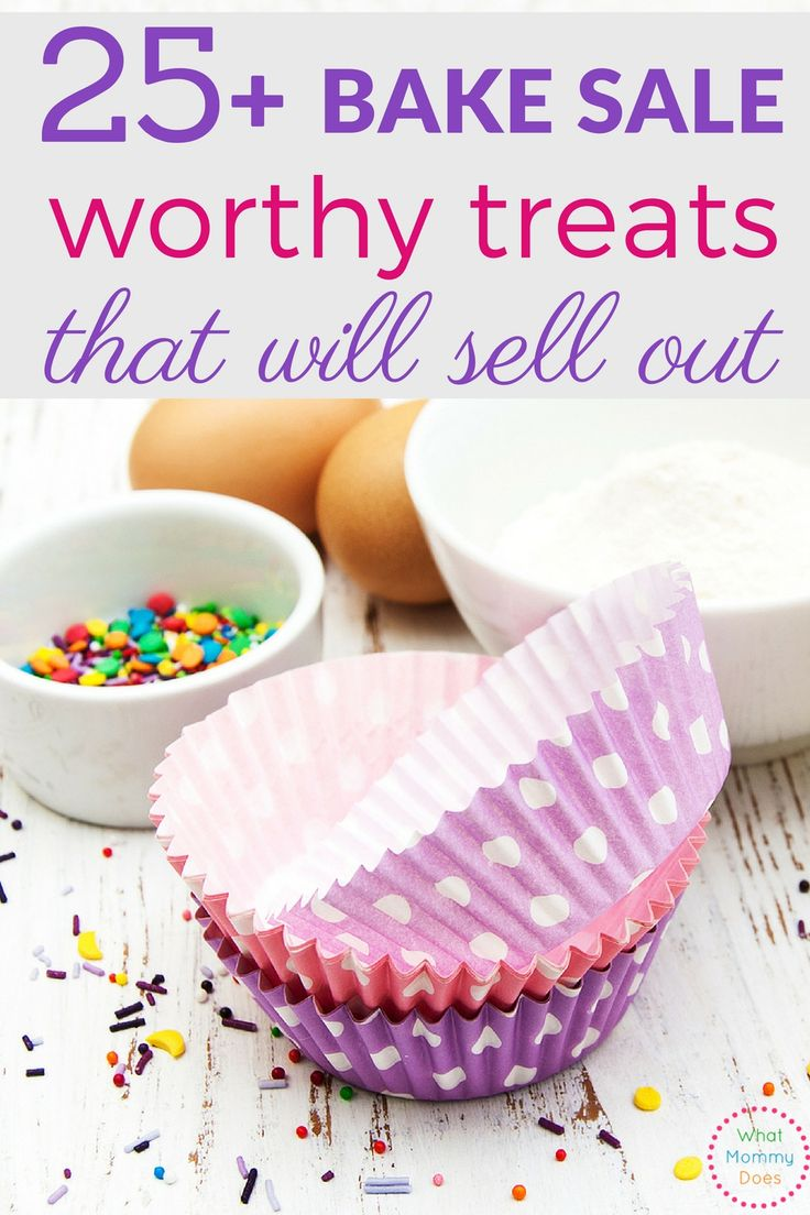 So many great bake sale ideas here. These are perfect for a fundraiser and kids can help make most of them!