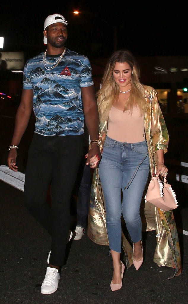 Khloe Kardashian & Tristan Thompson from The Big Picture: Today's Hot Photos  The couple is spotted out at Soho club in Hollywood.