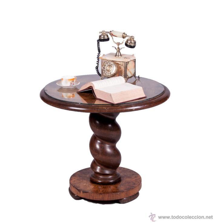 Antigua mesa auxiliar art dec foto 1 coleccion - Mesas auxiliares antiguas ...