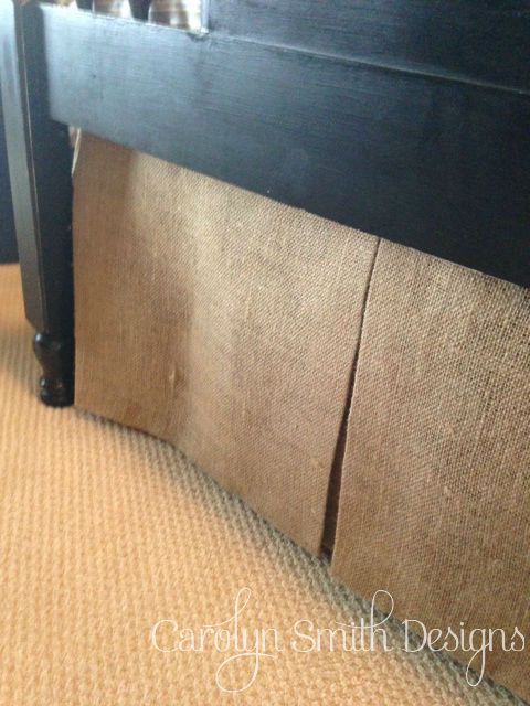 No Sew Burlap Bed Skirt! :: Hometalk