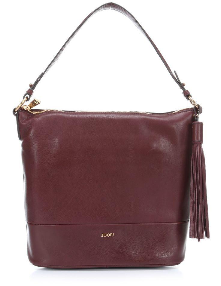 wardow.com - #joop, Soft Leather Estia Beuteltasche Leder wein 31 cm, #marsala