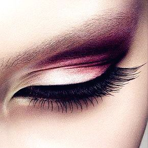 Stunning eye look with thick lashes.