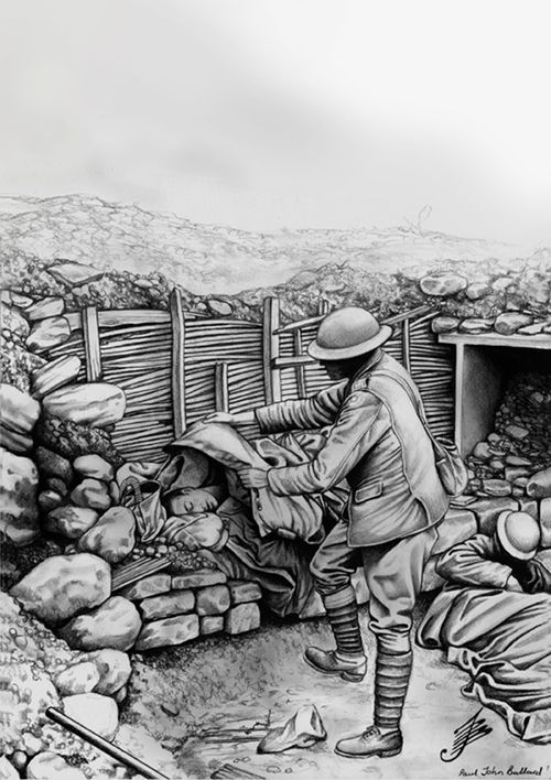 Drawings of british in trench World war 1   Military ...