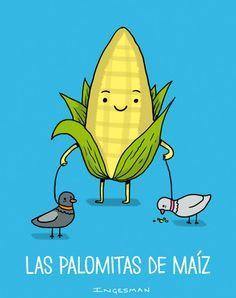 Palomitas de maíz - Happy drawings :)