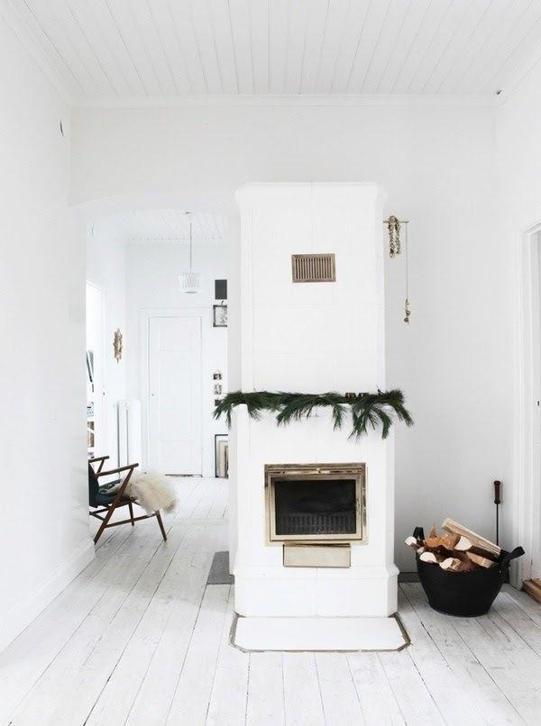 white floors & ceilings