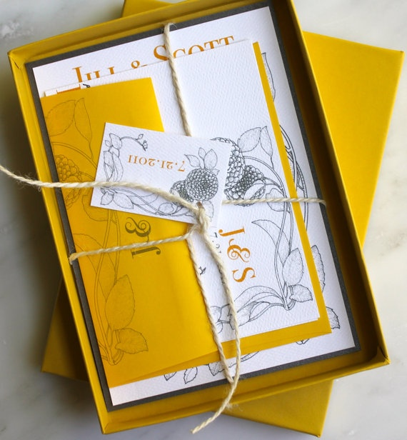 Yellow #wedding invitations & wedding stationery ... Wedding ideas for brides, grooms, parents & planners ... https://itunes.apple.com/us/app/the-gold-wedding-planner/id498112599?ls=1=8 … plus how to organise an entire wedding ♥ The Gold Wedding Planner iPhone App ♥