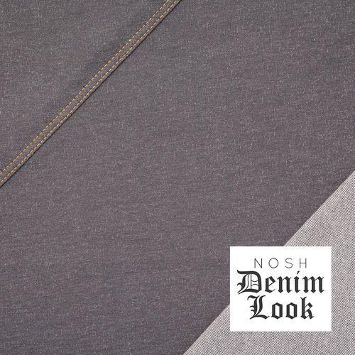 Denim Look Jersey, Gray 96% Organic Cotton, 4% Elastane