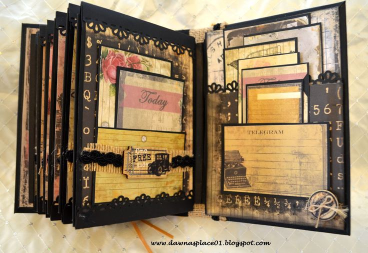 Dawna's Place: Romantic Parisian Inspired Envelope Mini Album