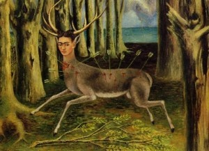 """El Venadito o El venado herido o Soy un pobre venadito""1946: Kahlo Paintings, Wounded Deer, Self Portraits, Frida Kalhor, Frida Kahlo, Fridakahlo, Art History, Frida Khalo, Frida Paintings"