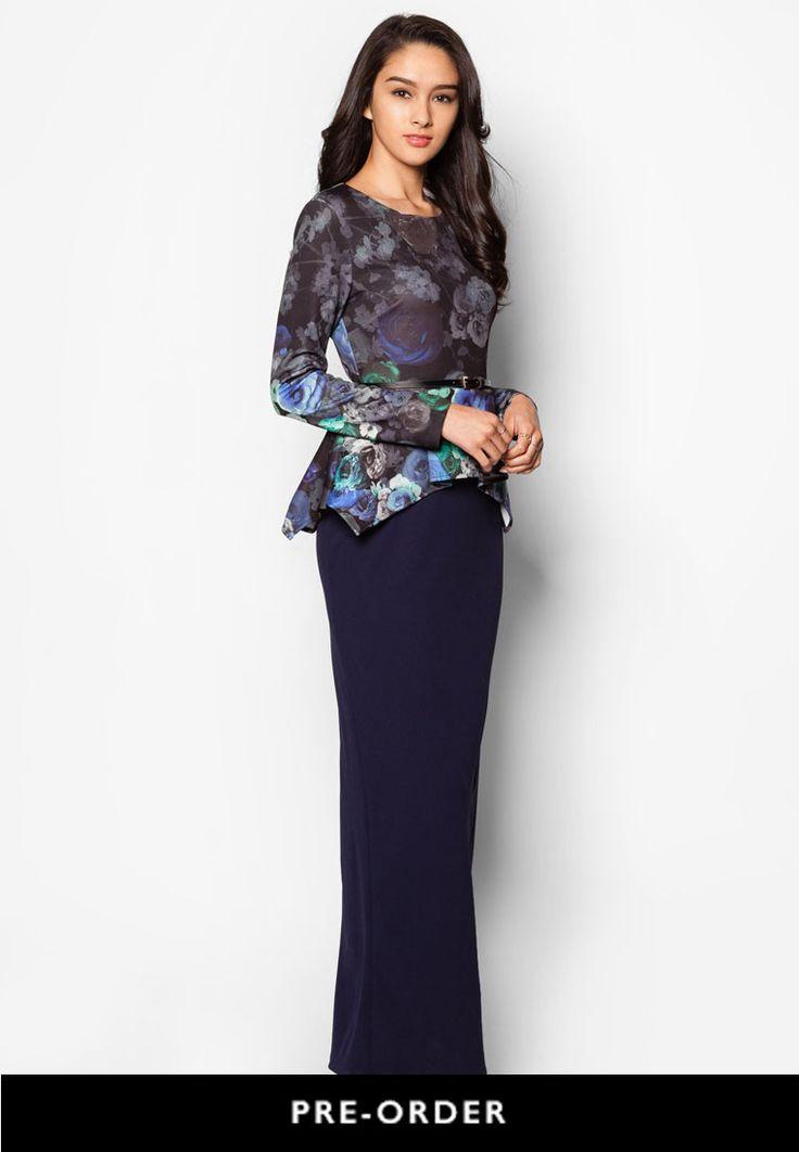 Buy Zalia Floral Print Peplum Top Dress | ZALORA Singapore