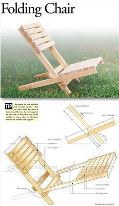 Folding Chair Plans - Outdoor Furniture Plans & Projects   WoodArchivist.com