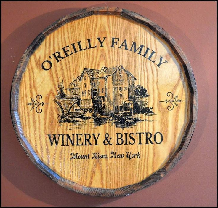 43 best Quarter Barrel Wood Signs Personalized images on Pinterest ...