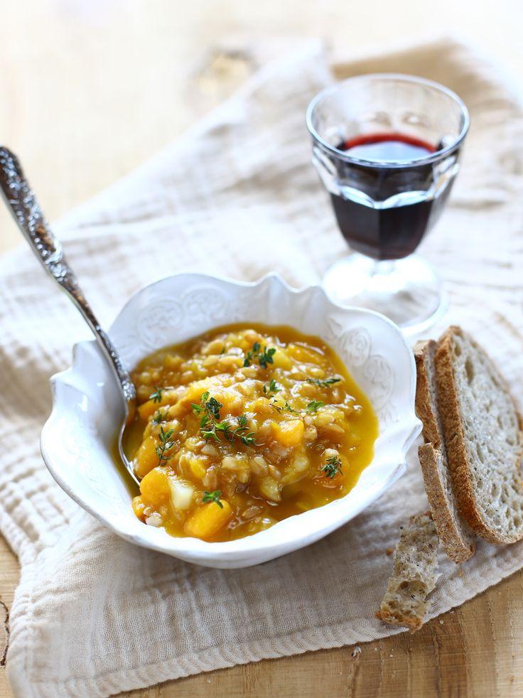 zuppa di patate dolci e topinambur