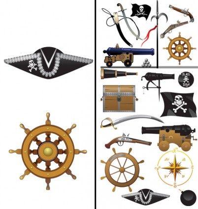 pirates clip art equipment and supplies