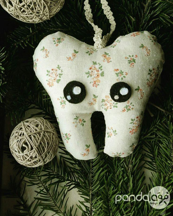 Kawaii tooth small pillow - made by PandaLav Design