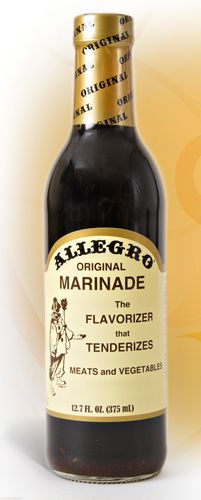 Allegro Marinade - Original - put 3lb brisket in crock pot fat side up, 1/2 bottle of (shaken) Allegro, cook on low 7-8 hours.  Let it come to room temp on the counter and take hardened fat off meat.  Shred with a fork and store w/ the rest of the sauce.