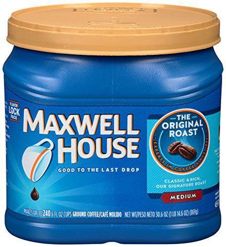 Maxwell House Original Roast (Medium Roast) Ground Coffee, 30.6 Oz - http://teacoffeestore.com/maxwell-house-original-roast-medium-roast-ground-coffee-30-6-oz/