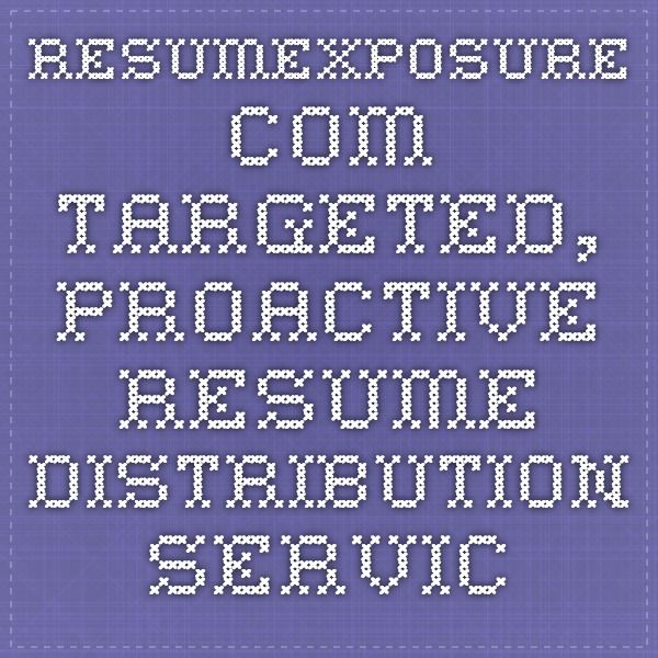 ResumeXposure.com - Targeted, proactive resume distribution service for job seekers. Email your resume to recruiters and employment agencies. Free resumes for professional recruiters.