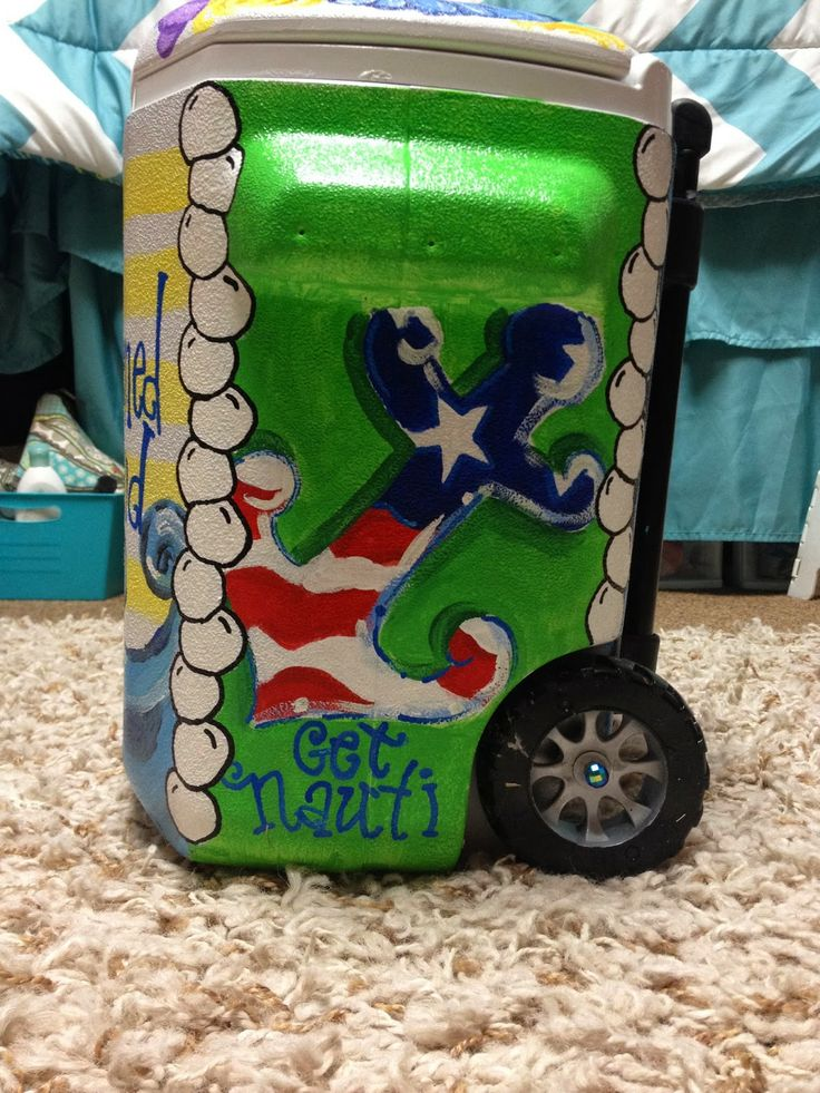 Diy Painted Cooler : Best painted coolers images on pinterest cooler