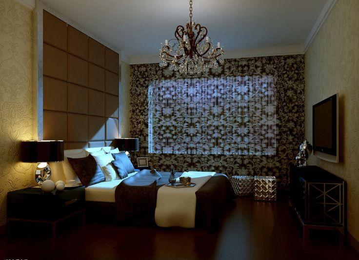 European Bedroom Ideas   European Style Bedroom Night View Rendering Warm Bedroom  Designs With