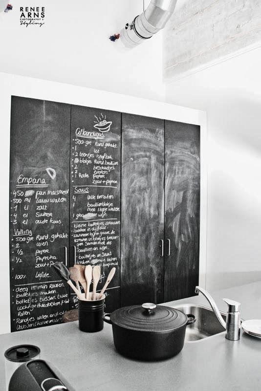 An industrial loft in Eindhoven | Chalkboard wall