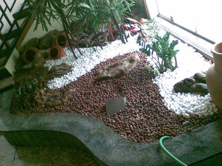 Jardins decorados com pedras 14