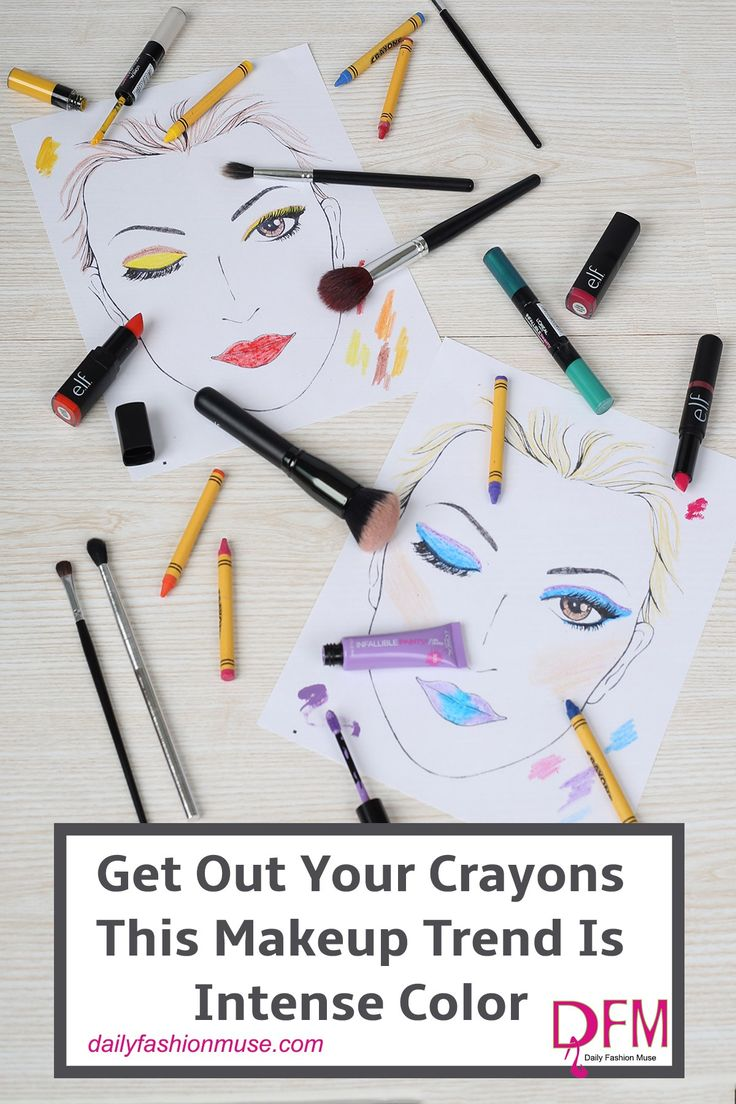 Crayon color makeup is trending for spring. But is it realistic? I test out several of these pop colors. Click through to view my attempts at crayon color makeup and see if you think I could step outside in them.