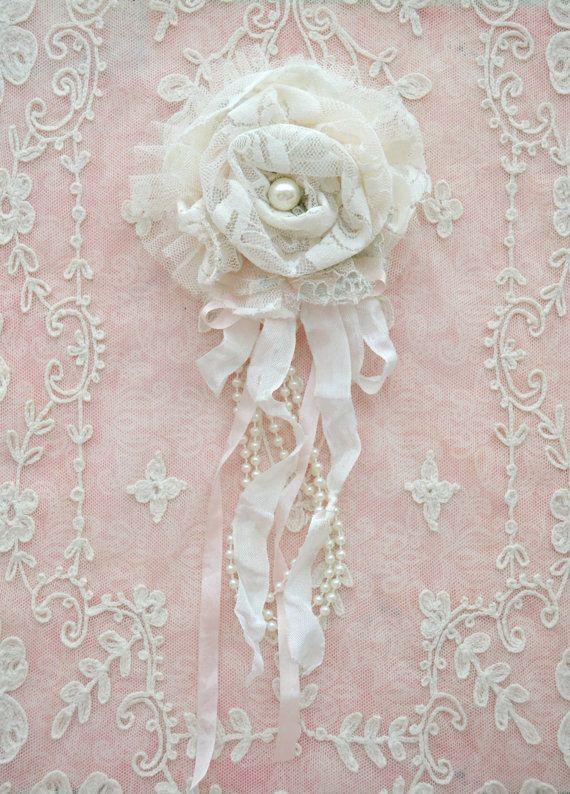 RESERVED for CHRISTINE Ivory Lace Gillyflower by Jenneliserose