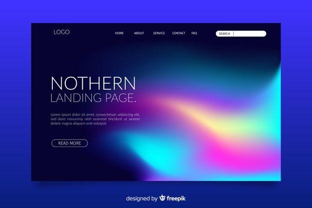 Lade Nordlicht Landingpage Vorlage Kostenlos Herunter Landingpage Vorlagen Soziale Netzwerke