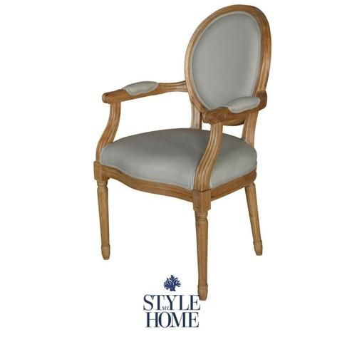 'Augusta' Carver Dining Chair with Arms