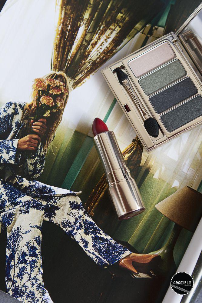 Clarins fw17 makeup #clarins #makeup #beauty #lipstick #batom #eyeshadow