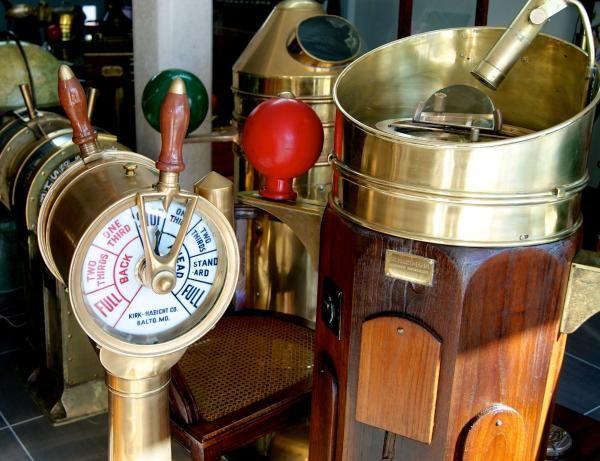 antique bloctube engine telegraph controls