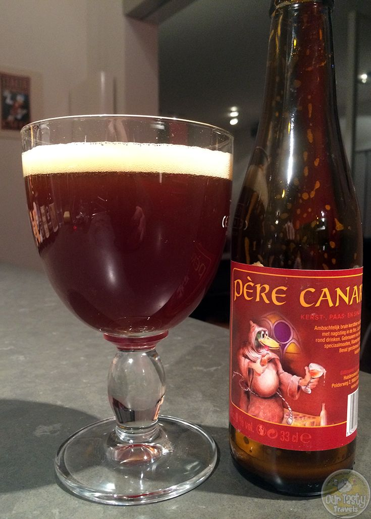 14-Jan-2015 : Pere Canard, a Christmas beer from Huisbrouwerij Sint Canarus of Deinze-Gottem, Belgium. Brown sugar and liquorice. A bit of a gusher. #ottbeerdiary