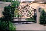Garden Gates: Entryways to Your Landscape    Just as a well-chosen front door delivers a message about the homeowner, garden gates convey a     Just as a well-chosen front door delivers a message about the homeowner, garden gates convey a lot of information as well. With garden gates, you have the opportunity to make a statement. For instance, a bright eye-catching color demands attention. Garden gates made of pickets or wrought iron reflect a certain openness and willingness to share.