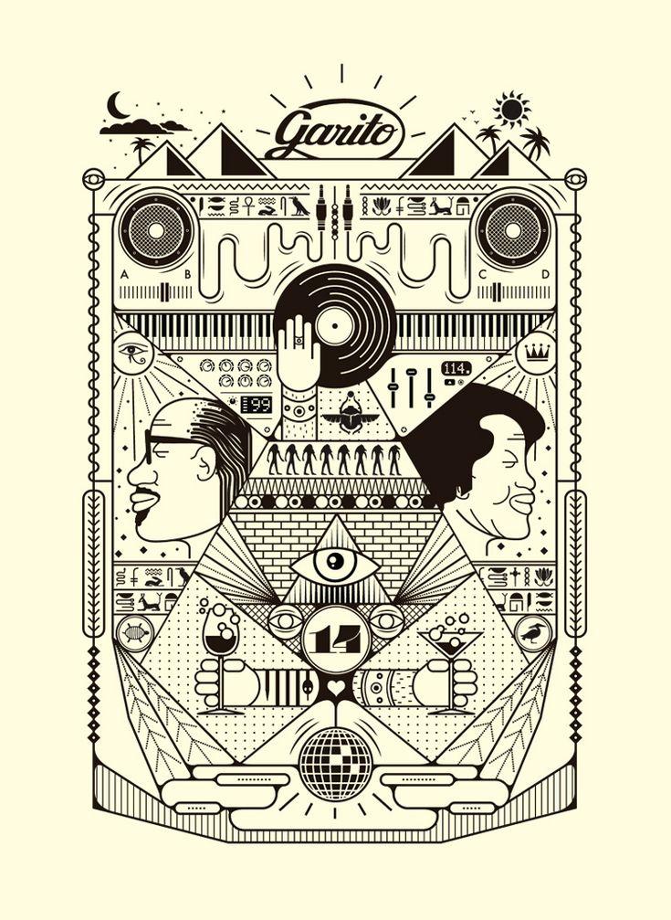 Alberto Ojeda | Diseño Gráfico, Ilustración, Apps y Web en Palma de Mallorca | GARITO CAFÉ T-SHIRT