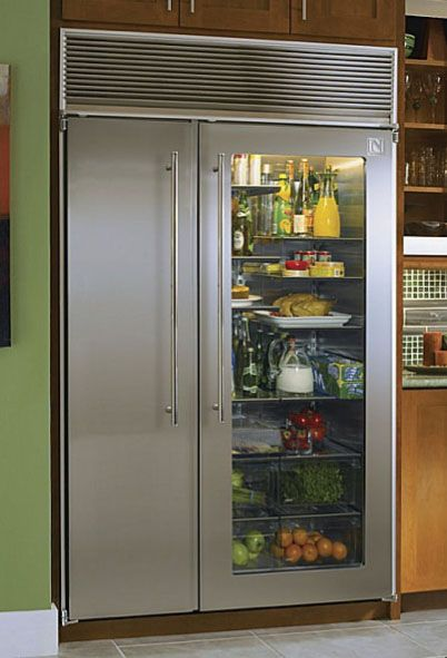 The well stocked entertaining pantry refrigerator freezer glass front refrigerator - Glass door refrigerator freezer ...