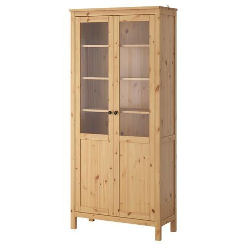 HEMNES шкаф с панел/стъклена врата - IKEA