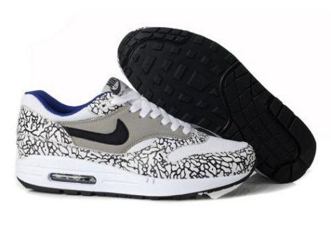 Nike Air Max 1 Men's New Shoe Grey White Black