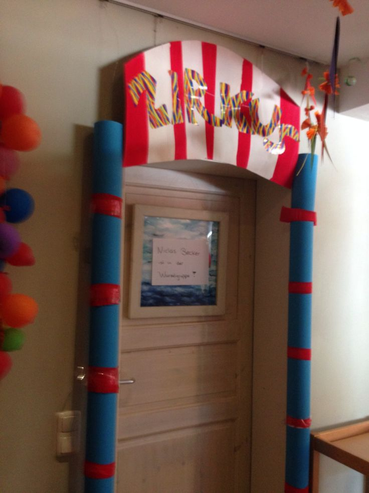 Zirkus im Kindergarten-Gruppenraumgestaltung