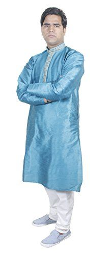 Mens Apparel Kurta Pajama Party Wear Ethnic Indian Clothing Turquoise Size L RoyaltyLane http://www.amazon.co.uk/dp/B019Q22FNW/ref=cm_sw_r_pi_dp_eGCRwb1KTGXT2