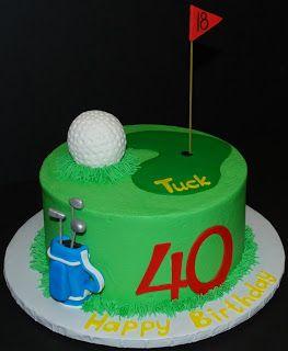 The Bakery Next Door: Golf Birthday Cake