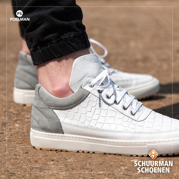 PS Poelman exclusieve witte heren sneakers