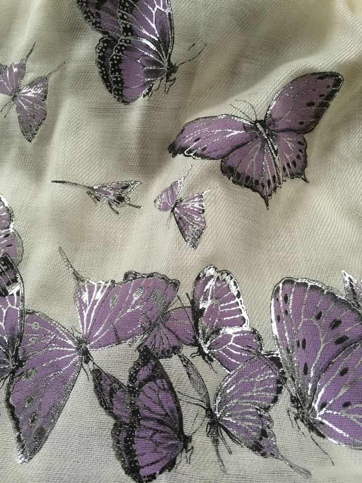 last ones! Stunning Butterfly Scarf // Silver Accents